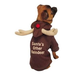 Small Dog Santa's Other Reindeer Hoodie